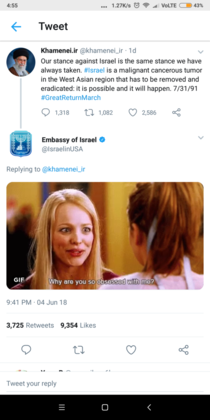 Embassy of Israels reply to the Iranian Supreme Leaders tweet is the funniest thing youll see today