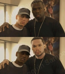 Eminem and  Cent race swap