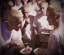 Eminem sharing MampMs with other Eminems