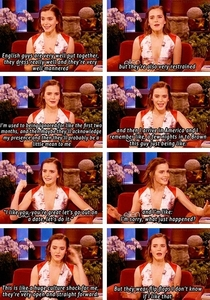 Emma Watson on English and American guys