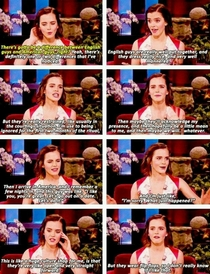 Emma Watson on the difference between English and American guys