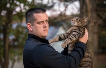 Engagement photos included my fiancees cat Everything went as expected