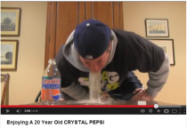 Enjoying A  Year Old Crystal Pepsi