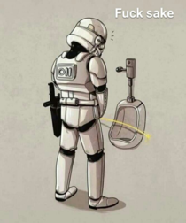 Even in here Stormtrooper still misses