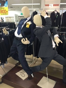Even Japanese mannequins party harder than me