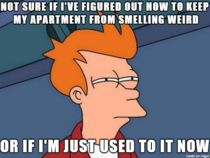 Even the faintest smell can taint a small apartment
