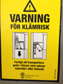 Ever since moving to Sweden Ive grown an irrational fear of elevators
