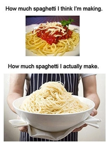 Every Time I Cook Spaghetti