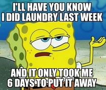 Every time I do laundry