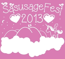 Every year we have a manly camping trip in the mountains we call SausageFest Here is this years shirt design