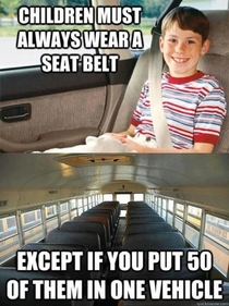 Except for the front two seats where the teachers sitmmmm