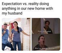 Expectation vs reality doing things at home as a couple