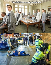 Expectation vs realityHow the British as seen by Americans and Europeans
