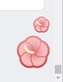 Facebooks flower Emoji is a bit tapewormanussy no