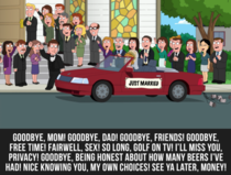 Family Guy exposes the naked truth about getting married