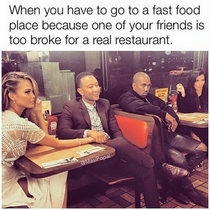 Fast food chain because of a broke friend