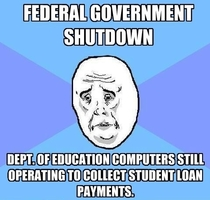 Federal Shutdown So maybe Oh Never mind