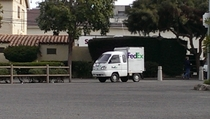 FedEx truck on Catalina island