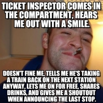 Fell asleep on the train and missed my stop Met the best inspector ever