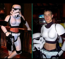 Female storm trooper