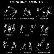 Fencing Donts