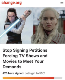 Finally a petition I can get behind