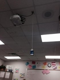 Finally found an outlet in the classroom