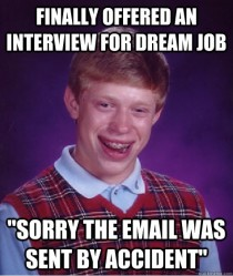 Finally offered an interview for my dream job then this happened