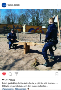 Finnish police at work
