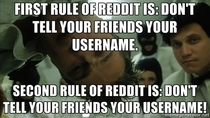 First Rule of reddit