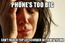 First world phone problems