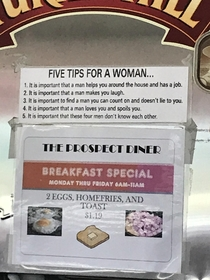 Five tips for a woman
