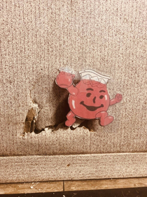 Fixed a hole in the wall at work today