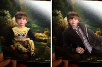 Fixed the kid whose mom sent him to school in pajamas on picture day