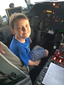 Flying from Vegas to StLouis today my  year old son asked the pilot whats your clearance Clarence The pilot laughed and said Come sit down and well reenact some scenes my son replied surely you cant be serious