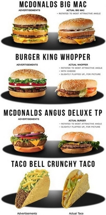Food from famous fast-food chains