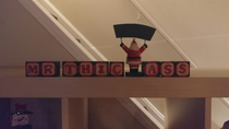 For anyone else whos mother has a decoration that spells out Christmas in blocks