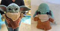 For Christmas my buddy ordered his sister a Baby Yoda off of Etsy This arrived a month and a half late