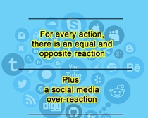 For Every action there is an equal and opposite reaction and