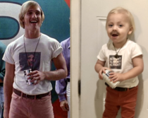 For Halloween we dressed my son up as Matthew Mcconaugheys character from Dazed and Confused