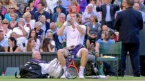 For luck Andy Murray carries around an old man in his bag