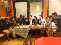 For my bachelor party we had the last supper at Taco Bell