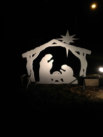 For my first cake day I present a nativity scene I found that looks like two Tyrannosaurus Rex fighting over a watermelonOC