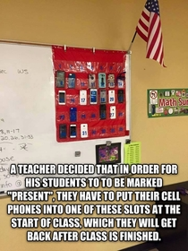 For my prof who often gets upset when some of my classmates use their phones during class