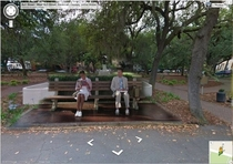 Forrest Gump is in Google Street View