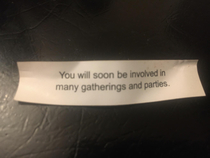 Fortune Cookie didnt get the memo