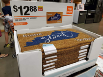 Found a box of Kentucky Home Sweet Home mats at Home Depot in Minnesota Cant believe these arent flying off the shelves