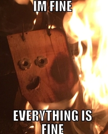 Found a meme in my fire tonight