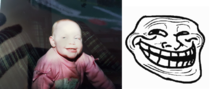 Found an old picture of my sister doing the original troll face circa