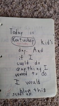 Found My nd Grade School Journal I Had Big Plans
